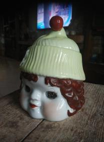 娃娃头瓷器罐,改革开放初期出品