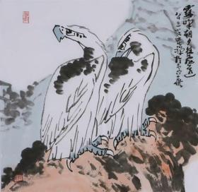 著名画家李苦禅名家字画国画纯手绘