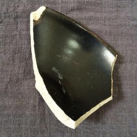 吉州窑黑釉敛口盏瓷片
