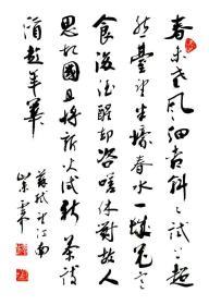 【保真】实力书法家董云忠精品草书:苏轼《望江南》