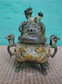 双龙戏珠香炉