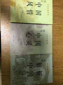 认识中国系列《中国风情》《中国心灵》《解析中国》三部合售