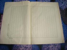 中国人民解放军政治文化部稿纸 8张 尺寸25*22