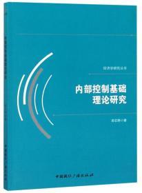 内部控制基础理论研究/经济学研究丛书