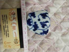 茉莉瓷片~花卉纹明清瓷片一块