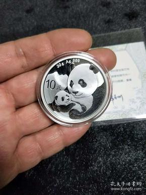 【保真】2019年純銀999熊貓幣,紀念幣。尺寸重量看圖說明