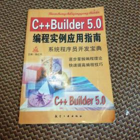 C++Builder 5.0编程实例应用指南:系统程序员开发宝典