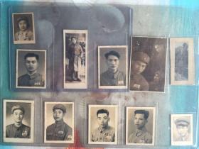 五十年代初解放军老照片 11张合拍 小小张