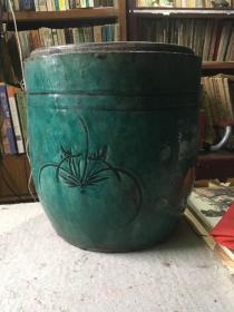 绿釉大缸(自然开片)
