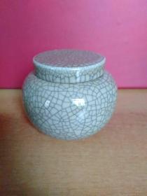 龙泉青瓷款陶瓷罐【瓶罐肚腹直径12厘米左右、高10厘米】