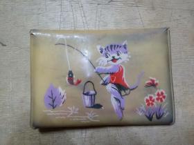 小猫钓鱼塑料钱夹(上海新德出品206-6)