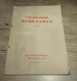 广东人民抗日游击队…东江纵队史大事年表