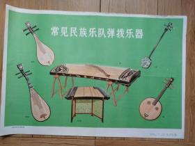 常见民族乐队弹拨乐器(音乐教学挂图(一)12(6))
