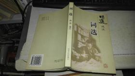 词选 【1999年 一版一印 原版书籍】胡适 选注