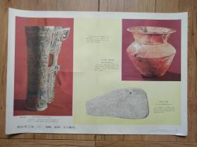 商代手工业(二)烧陶、制骨、玉石雕刻(中国历史教学挂图 奴隶社会 6(2))