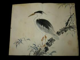 民国花鸟画册页 24幅 散开  著名日本南画大师士居锦谷作品 保真