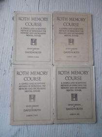 ROTH MEMORY COURSE   罗斯记忆教程4本合售(民国版)