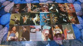 中国戏曲1生卡片20张.中国戏曲2旦 卡片20张 (合售) 带护封 戏曲生卡片有受潮磨损近9品
