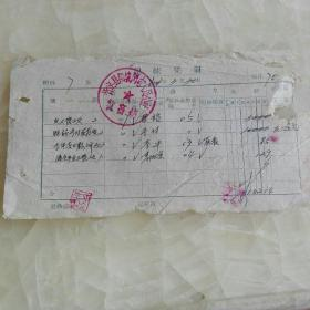 61年忻定县闪电人民公社凭证