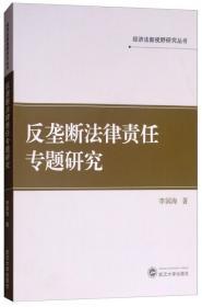 经济法新视野研究丛书:反垄断法律责任专题研究武汉大学李国海9787307204409