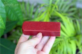 寿山大红袍空白印章