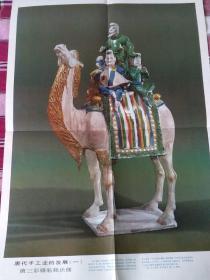 教学挂图  唐代手工业的发展  一    唐三彩骆驼载乐俑
