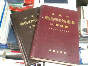 北京市国民经济和社会发展计划大事辑要1949-1990