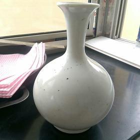 清代,白釉瓷,细颈瓶。完整。,,〈高20.5㎝〉品好,少见