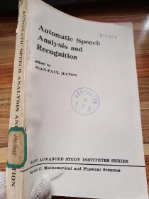 自动语音分析与识别 英文版