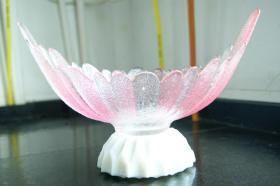 粉红色玻璃果盘