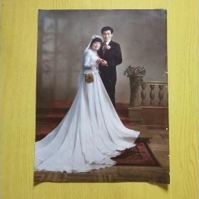 老照片  婚纱照  彩色