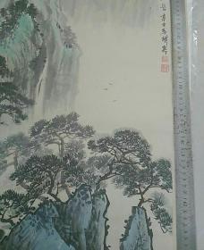 当地著名山水画名家,王树嘉先生早期山水一幅