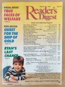 英文原版 readers digest (March 1995) 读者文摘1995年第3期