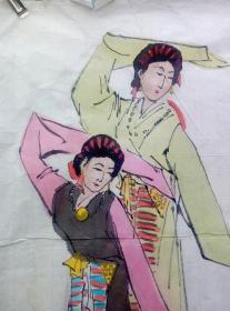 阿老,藏民跳舞图(47*52)