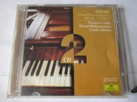 CD  光盘  唱片      莫扎特    第20.21.25.27.钢琴协奏曲   【2张CD】