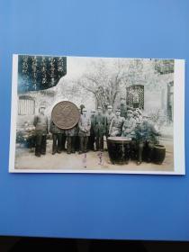 1945年山西洪洞县统委会欢送张主委留影纪念