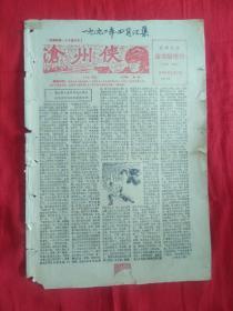 宝鸡文化故事版增刊(月报~试刊)刊登中篇评书《沧州侠》
