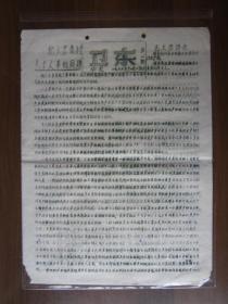 文革油印传单:和大家商讨关于文革的问题(南京华电期刊《卫东》第一期)
