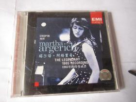 CD 光盘  唱片  EMI      肖邦   玛尔塔  阿格里奇     1965年的传奇录音