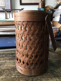 竹制保温桶 约六七十年代 保温饭桶 装冰棍