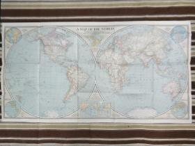 National Geographic国家地理杂志地图系列之1941年12月  A Map of The World 二战时期世界地图