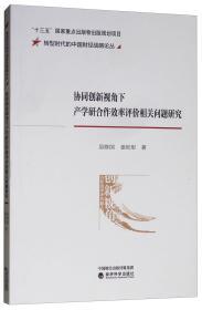协同创新视角下产学研合作效率评价相关问题研究/转型时代的中国财经战略论丛