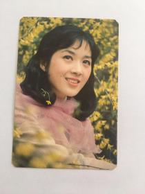 龚雪  美女电影明星   卡片 1985年历卡