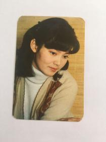 潘虹 美女电影明星   卡片 1984年历卡