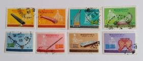 台湾邮票 专122专132音乐信销邮票8枚2套合售