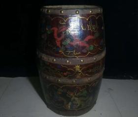 老漆器木桶 大木桶