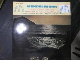 黑胶原版唱片MENDELSSOHN