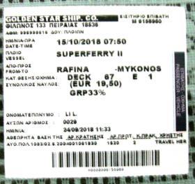 希腊博物馆和景点门票(共6张)