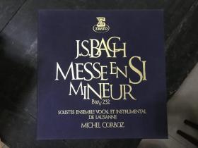 黑胶原版唱片3张装J.S.BACH MESSEENSI MINEUR
