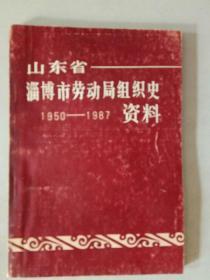 山东省淄博市劳动局组织史1950-1987资料